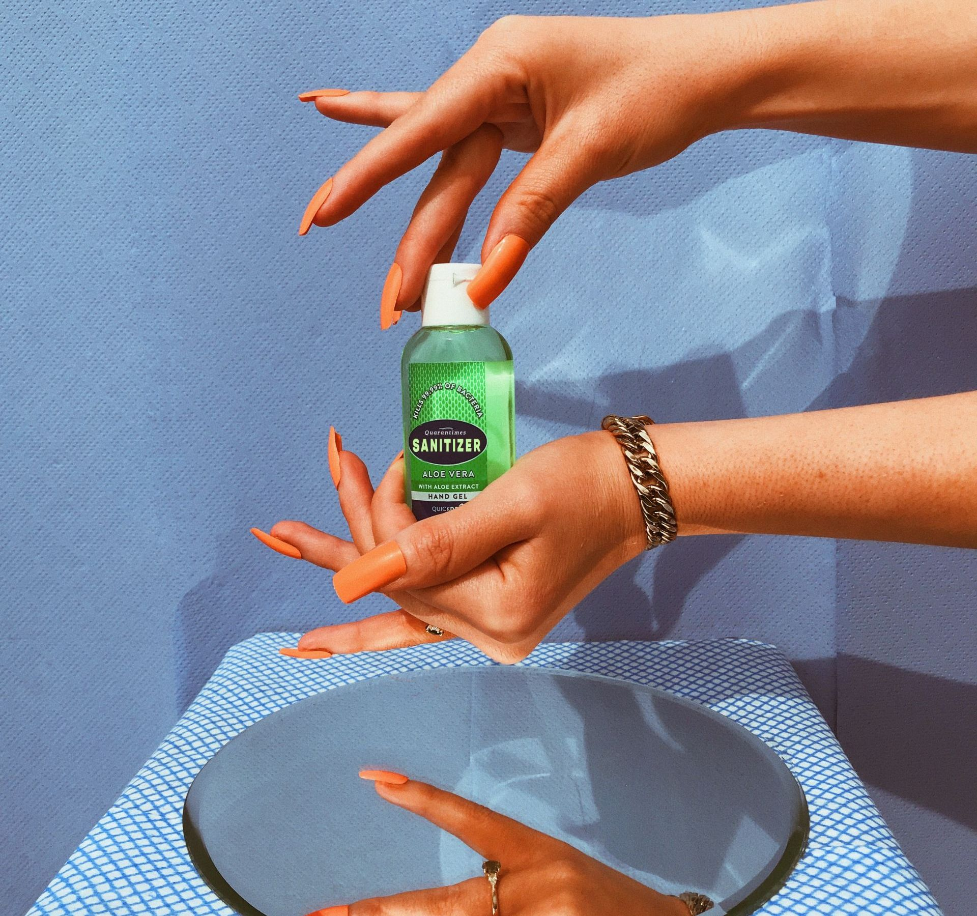 Be wise, sanitize. Image created by NTROPIC STUDIOS. Submitted for United Nations Global Call Out To Creatives - help stop the spread of COVID-19.